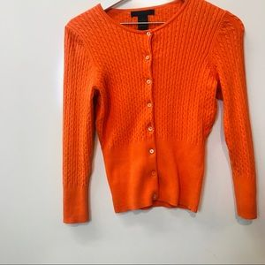 Express sweater, Orange in color.
